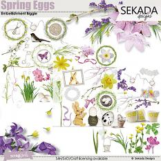 Spring Eggs Embellishment Biggie