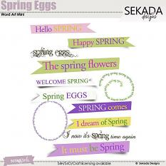 Spring Eggs Word Tag