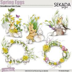Spring Eggs Embellishment Mini Cluster
