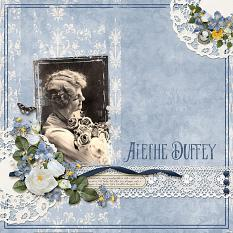 """Alethe Duffy"" layout using Beauty In Bloom Collection"