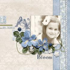 """Bloom"" layout featuring Beauty In Bloom Collection"