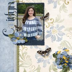 """Caitlyn"" layout featuring Beauty In Bloom Collection"
