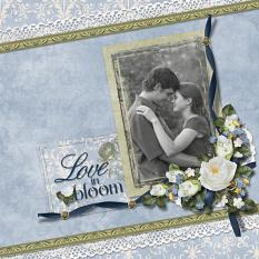 """Love In Bloom"" layout featuring Beauty In Bloom Collection"