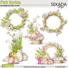 Pink Spring Embellishment Mini Cluester