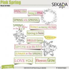 Pink Spring Word Art Mini