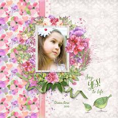 Layout By Judy Webster using Springtime Watercolor Collection Mini