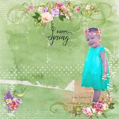 Layout By Andrea Hutton using Springtime Watercolor Collection Mini