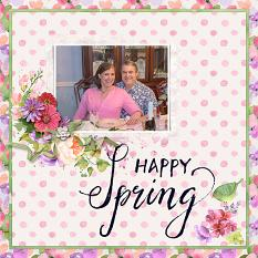Layout By April Martell using Springtime Watercolor Collection Mini