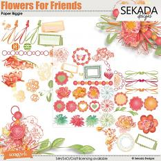 Flowers For Friends Embellishment Biggie