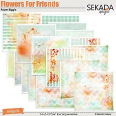 Flowers For Friends Paper Biggie