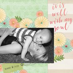 """It Is Well With My Soul"" digital scrapbooking layout by Keri Schueller"