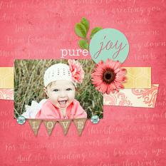 """Pure Joy"" digital scrapbooking layout by Keri Schueller"