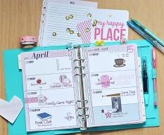 hybrid week to 2 pages #planner pages by Amanda Fraijo-Tobin using Artsy Planner Essentials pages #printable #plannergoodies #plannergirl #planwithme