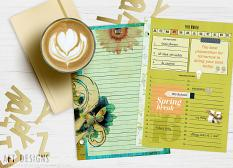 #planner printables created using Artsy Planner templates. Decorate in photoshop with #digitalscrapbooking supplies, or print as is and decorate by hand! Be inspired to create pretty planners!| AFTdesigns.net