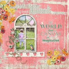 """Imagine"" Layout By Judy Webster"