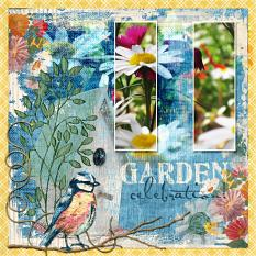 """Garden Celebration"" Layout By Amy Flanagan"