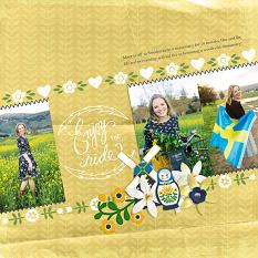 Digital Scrapbooking Layout by Cherise Oleson, using Brush Set: Folksy Edging