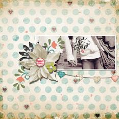 Digital Scrapbooking Layout by Angie Briggs, using Scrapsimple Paper Templates: Under Distress
