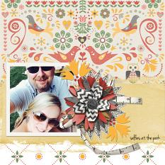 Digital Scrapbooking Layout by Angie Briggs, using ScrapSimple Paper Templates: Folksy