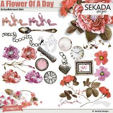 A Flower Of A Day Embellishment Mini