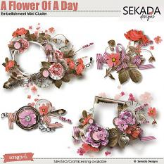 A Flower Of A Day Embellishment Mini Cluster
