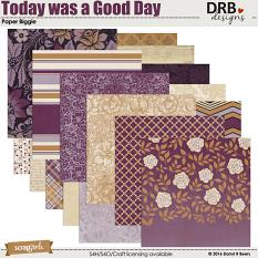 Today was a Good Day Paper Biggie by DRB Designs | ScrapGirls.com