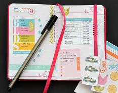 Planner using Color Your World Fit planner brushes