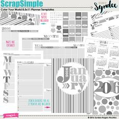 Color Your World Printable Planner templates