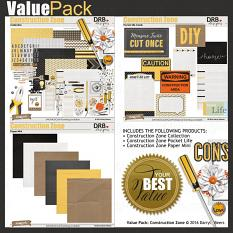 Construction Zone Value Pack by DRB Designs | ScrapGirls.com