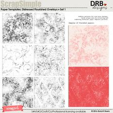 ScrapSimple Paper Templates: Distressed Flourished Overlays by DRB Designs | ScrapGirls.com