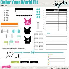 Color Your World Fit planner brushes