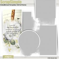 ScrapSimple Embellishment Templates: Fall Out Frames