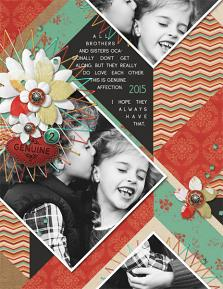 """Genuine"" digital scrapbooking layout by Brandy Murry"