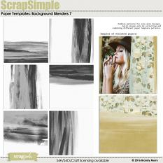 ScrapSimple Paper Templates: Background Blenders 7