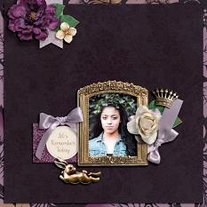 """Let's Remember Today"" Digital Scrapbook Layout by Darryl Beers"