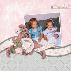 """Little Princess"" layout using All About Baby Girl Collection Biggie"