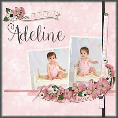 """Adeline"" layout using All About Baby Girl Collection Biggie"