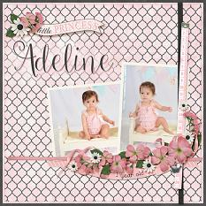 """Adeline(2)"" layout using All About Baby Girl Collection Biggie"