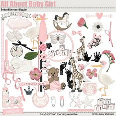 All About Baby Girl Embellishment Biggie