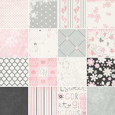 All About Baby Girl Paper Samples