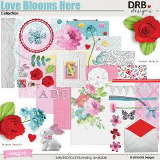 Love Blooms Here Collection by DRB Designs | ScrapGirls.com