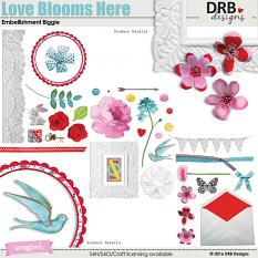 Love Blooms Here Embellishment Biggie by DRB Designs | ScrapGirls.com
