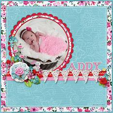 """Addy"" digital scrapbook layout by April Martell"