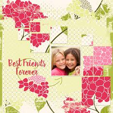 """Best Friends Forever"" scrapbooking layout using Just Blend It Masks"
