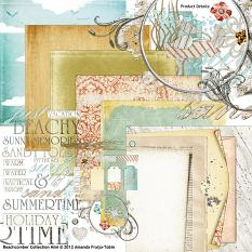 Beach Comber digital scrapbooking kit included in Summer Beachcomber Bundle