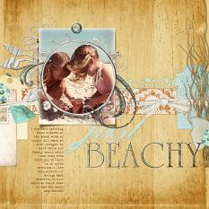 #digitalscrapbooking beach layout inspired kit by AFTdesigns - beachy themed layout idea