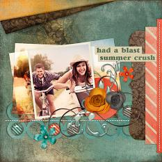 #digitalscrapbooking beach layout inspired kit by AFTdesigns - couples layout inspiration