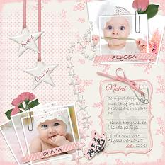 "Digital Layout, ""Sweet Cousins"", using ScrapSimple Embellishment Templates:  Sta"