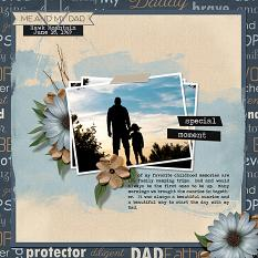 """""""Me And My Dad"""" layout using Scrap Simple Embellishment Templates:  Stacked Photos"""