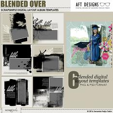 ScrapSimple Digital Scrapbooking Layout Album Templates: Blended Over by Amanda Fraijo Tobin @ScrapGirls.com | #digitalscrapbooking #memorybook #photoshop